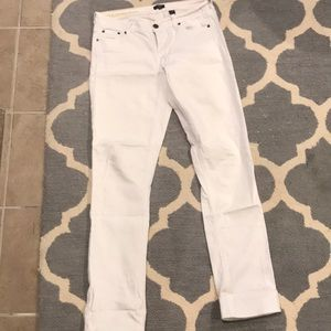White regular length jcrew stretch jeans